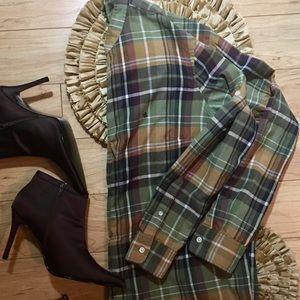 Ladies Plaid Lauren  Ralph Lauren Shirt Size 2XL